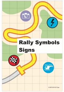 Rallye-Symbole als Zeichensatz